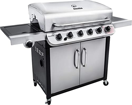 Char-Broil 463274619 Performance Series 6-Burner Gas Grill, Stainless Black