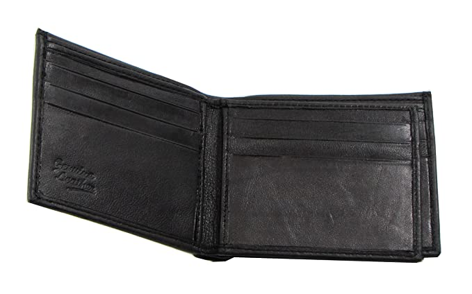 8faf8116ac75 Image Unavailable. Image not available for. Color  Leather Black Bifold  Mens Wallet ...