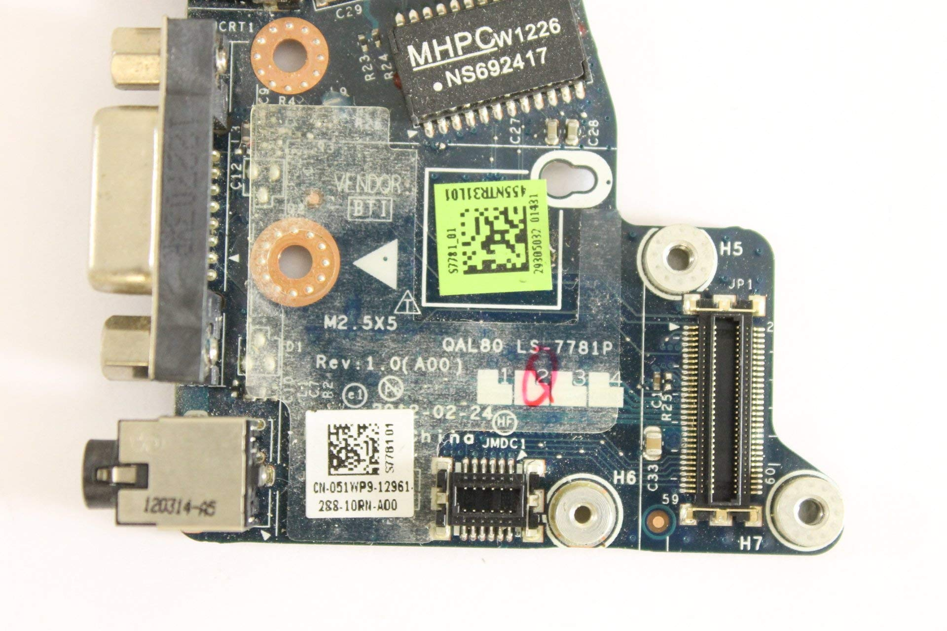 Dell Latitude E6430 51WP9 Audio Ethernet USB VGA Modem Board LS-7781P (Certified Refurbished) by Dell (Image #3)