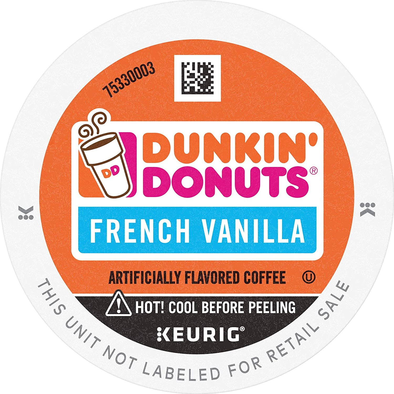 Dunkin' French Vanilla Flavored Coffee, 88 K Cups for Keurig Coffee Makers