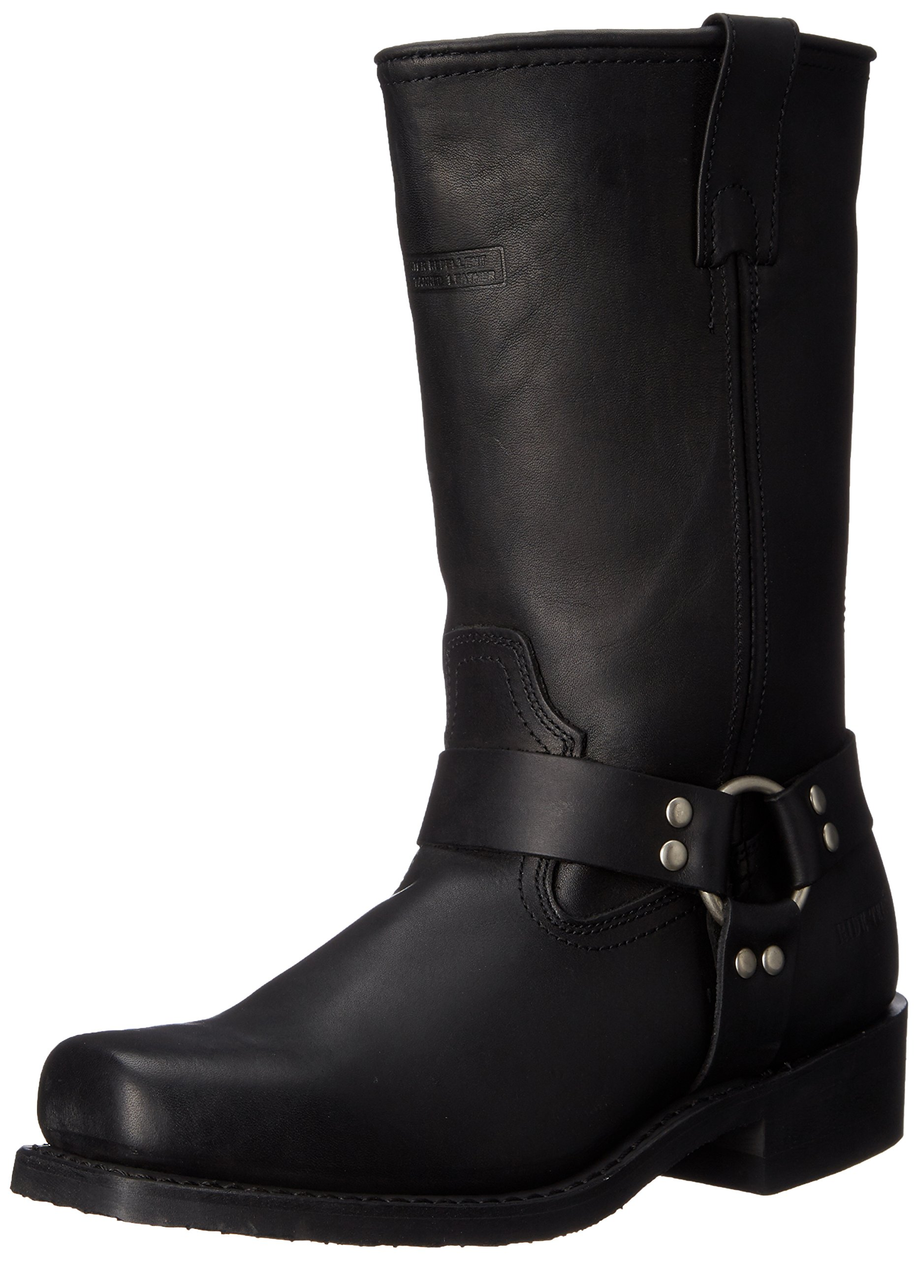AdTec Men's 11 Inch Harness Motorcycle Boot, Black, 12 M US