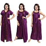 TUCUTE Women's 2pcs Nighty/Nightdress/Nightwear (Gown & Robe) Size : XL