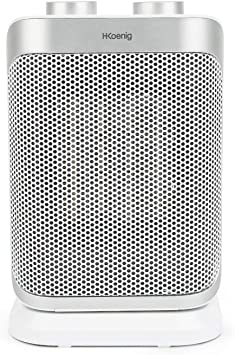 Opinión sobre H.Koenig Warm8 - Mini Calefactor Eléctrico Cerámico, Bajo Consumo, 2 Niveles, 1500 W, Ideal para Baño, con Función Ventilador, Blanco