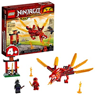 LEGO NINJAGO Legacy Kai's Fire Dragon 71701 Dragon Toy Figure Building Kit, New 2020 (81 Pieces): Toys & Games