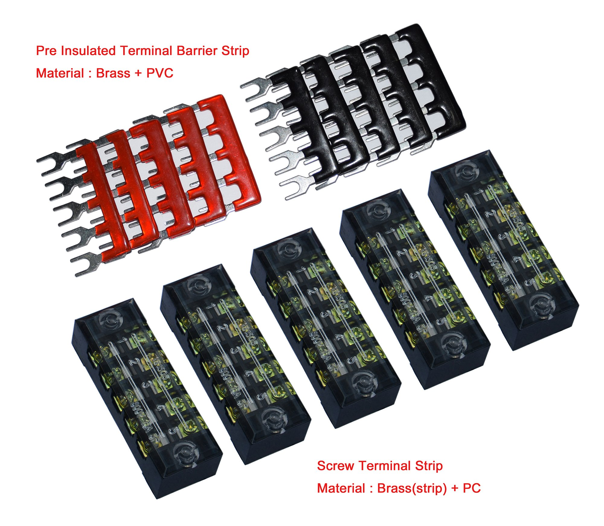 Best Rated In Terminal Blocks Helpful Customer Reviews Block Wiring Board Busbar 5 Pcs Dual Row Position Screw Strip 600v 15a 400v Postions