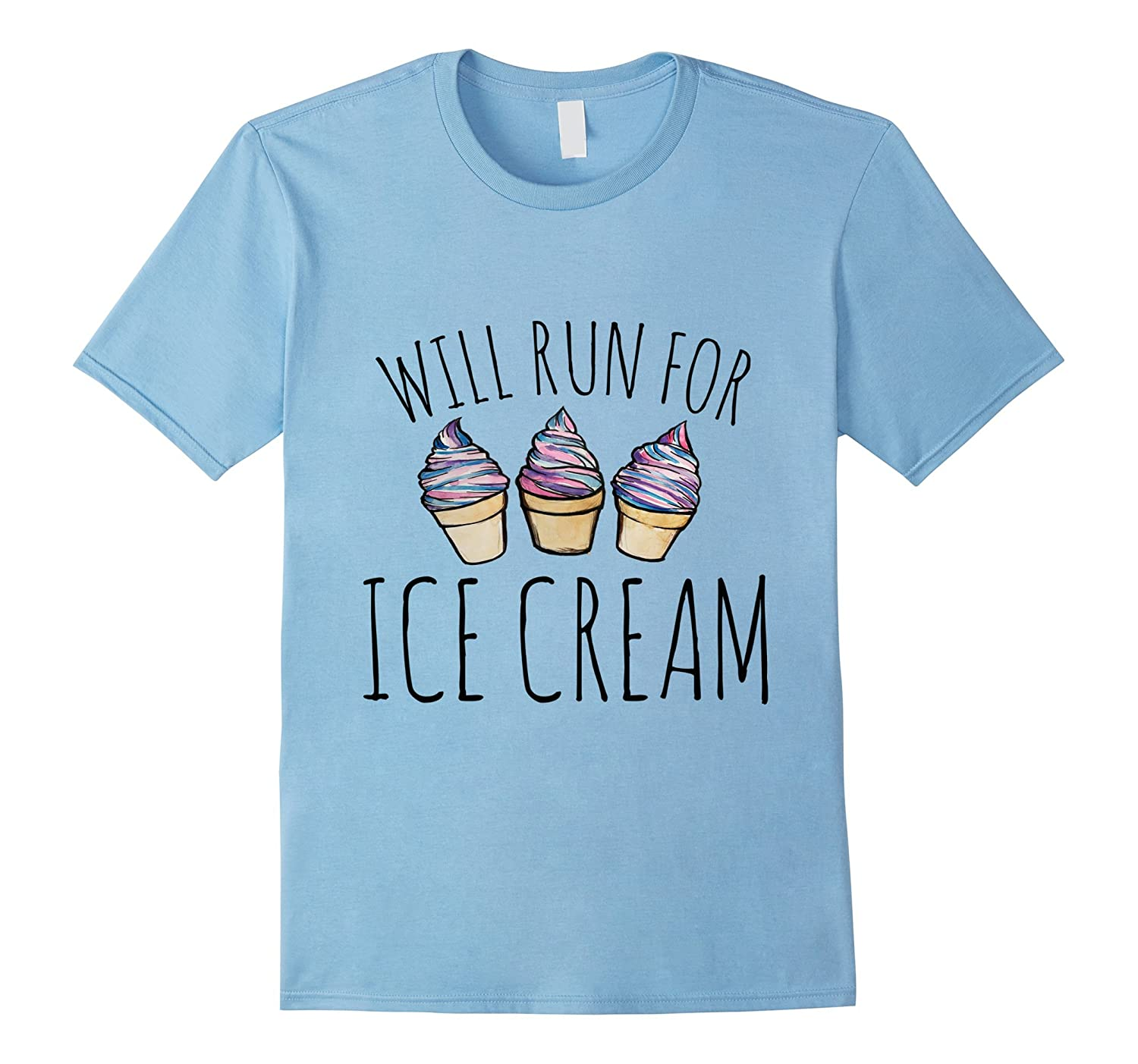 Will run for ice cream shirt Ice cream runners tee shirts-Vaci