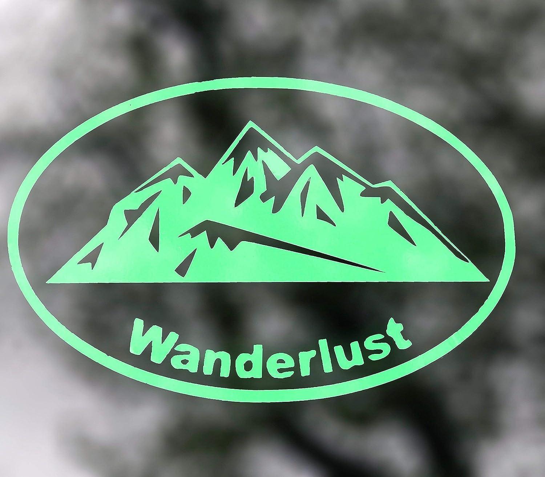 Wanderlust Mountain Vinyl Decal Bumper Sticker