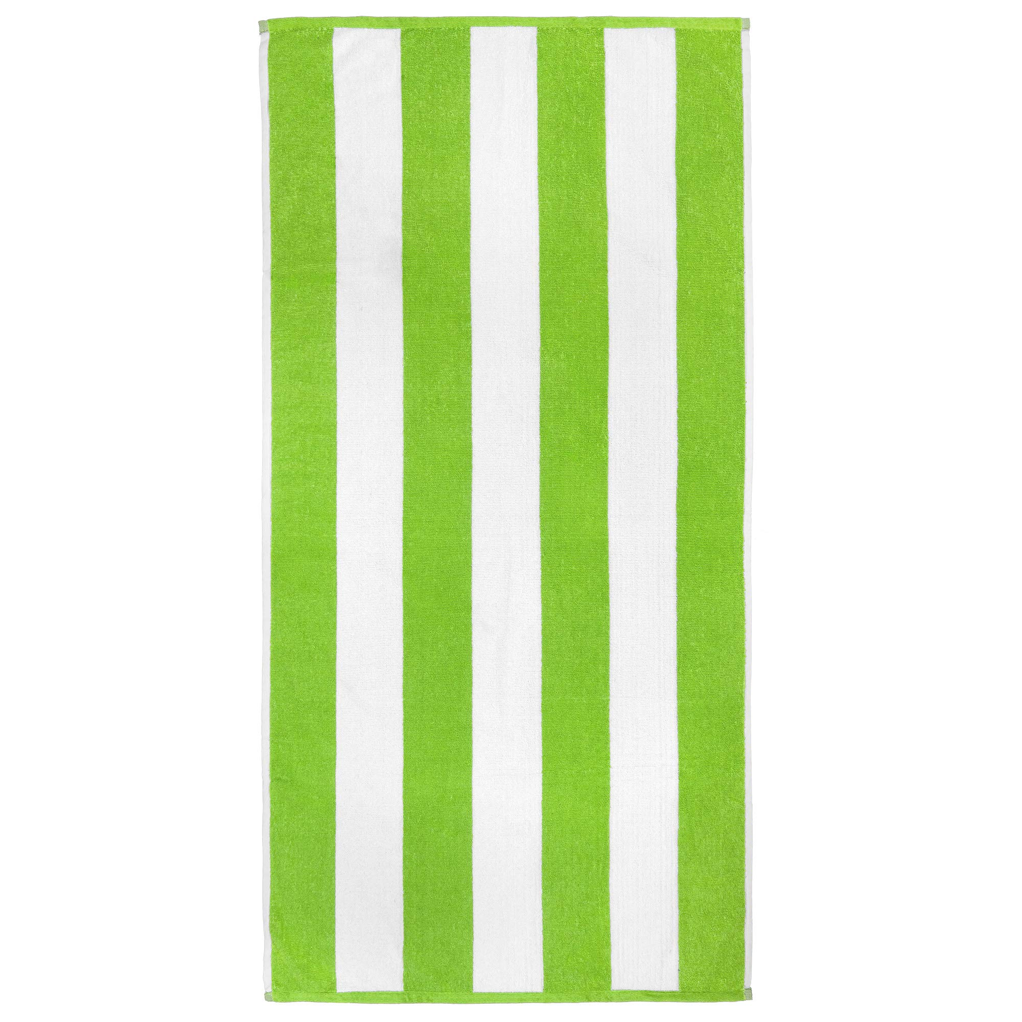 Cabana Beach and Pool Towel 6 Pack - 30in x 60in Soft and Absorbent Terry Loop (Royal, Turquoise, Green, Yellow, Orange, Pink) by Softerry (Image #4)