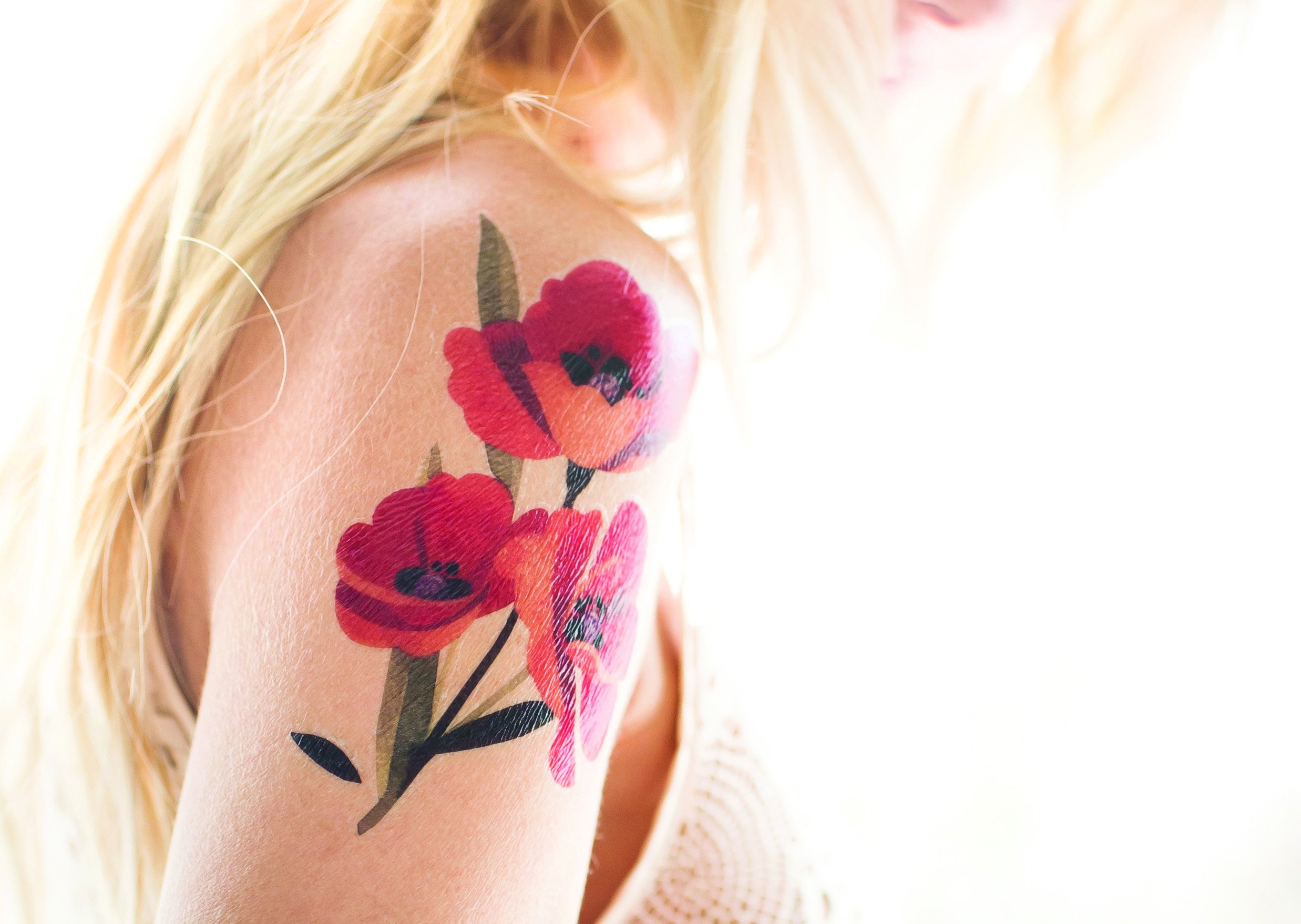 Flower Collection - Sasha Unisex - Quality Temporary Tattoos by TattooYou (Image #5)