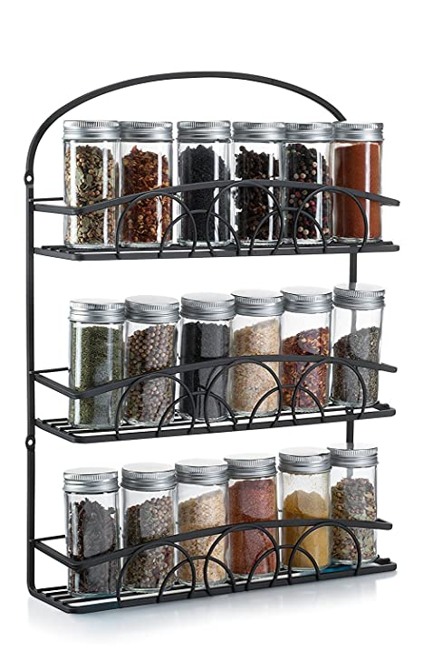 Awesome Francois Et Mimi Mountable Spice Rack And Holder, Black