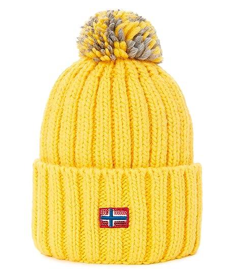 1ca005554348ca Napapijri Women's Itang WOM 1 Beanie Yellow: Amazon.co.uk: Clothing