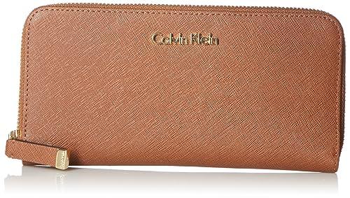 Calvin Klein Saffiano Leather Zip Continental Wallet - Cartera para mujer: Amazon.es: Ropa y accesorios