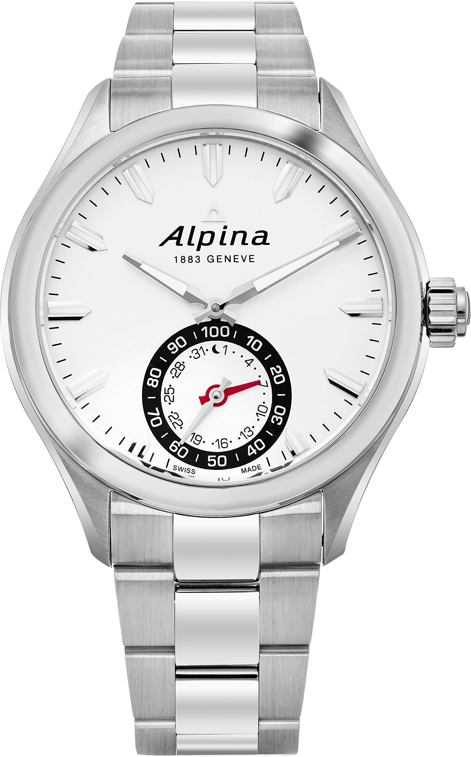 Alpina Men's AL-285S5AQ6B Horological Smart Analog Display Swiss Quartz Silver Watch by Alpina (Image #1)