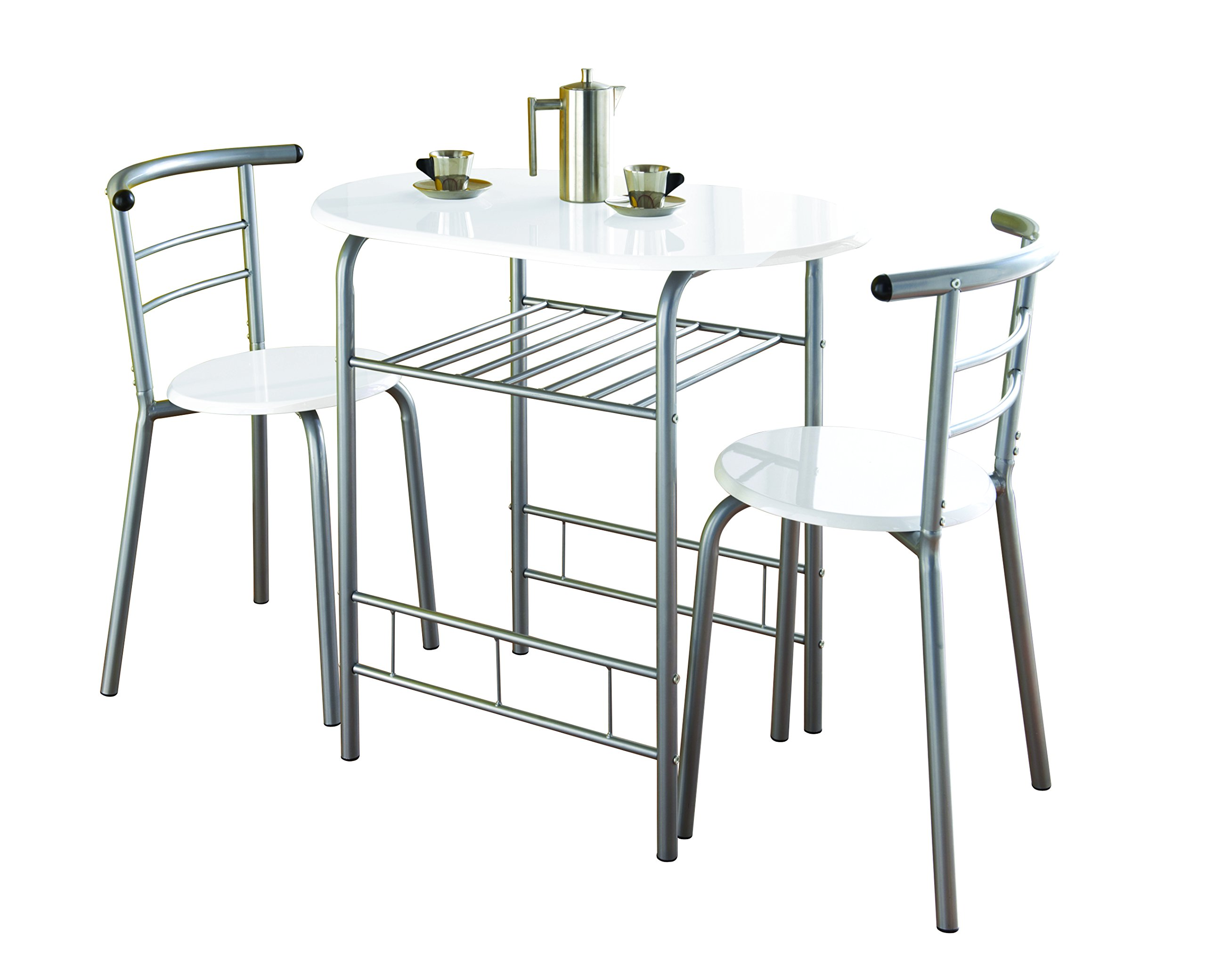 gloss dining room table and chairs amazon co uk rh amazon co uk Metal Dining Table and Chairs White Dining Table and Chairs