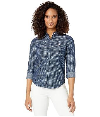U.S. Polo Assn. para Mujer Blusa - Azul -: Amazon.es: Ropa y ...