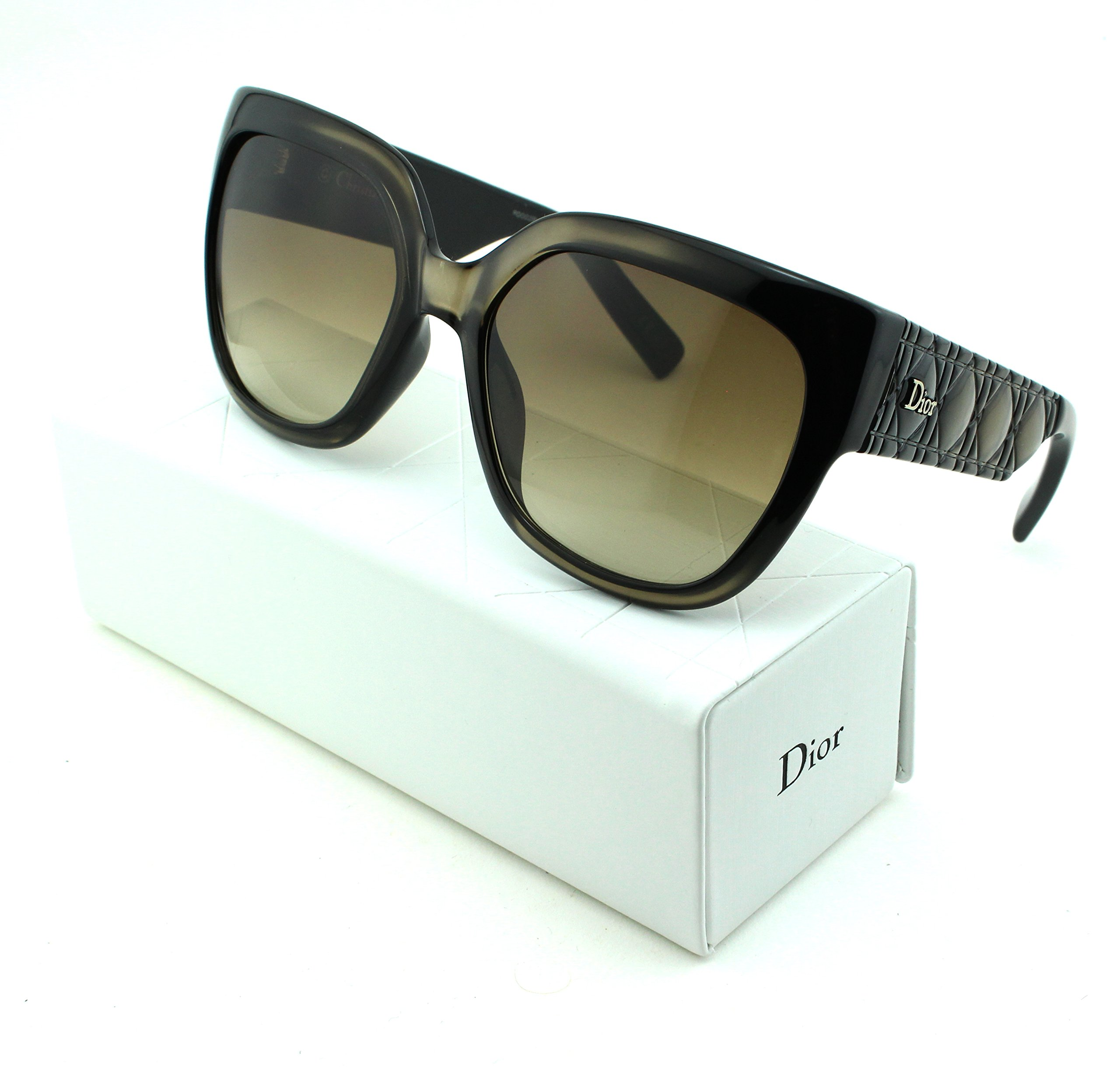 Dior Mydior/3N Square Women Sunglasses (Grey Frame, Brown Gradient Lens (0DUI))