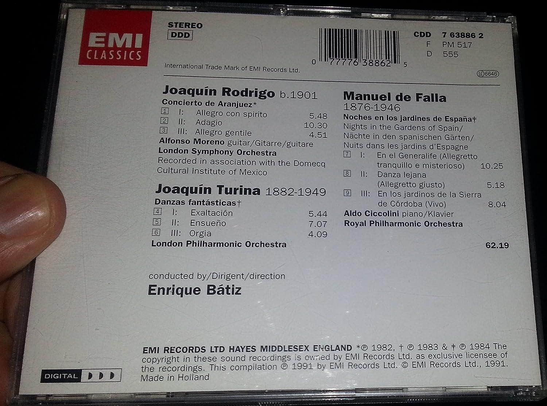 Amazon.com: Concierto De Aranjuez / Danzas Fantasticas ...