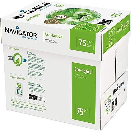 Navigator Eco-Logical - Papel de impresión 2500 hojas (A4, 5 x 500 hojas, 75 g/m2): Navigator: Amazon.es: Oficina y papelería