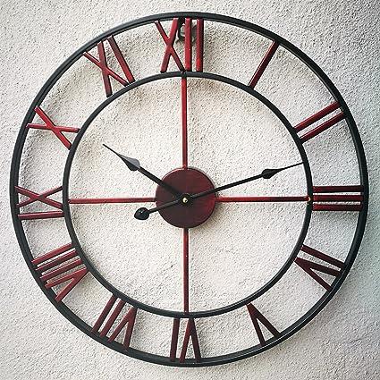 Oversized Roman Numeral Wall Clock Eruner European Retro Handmade