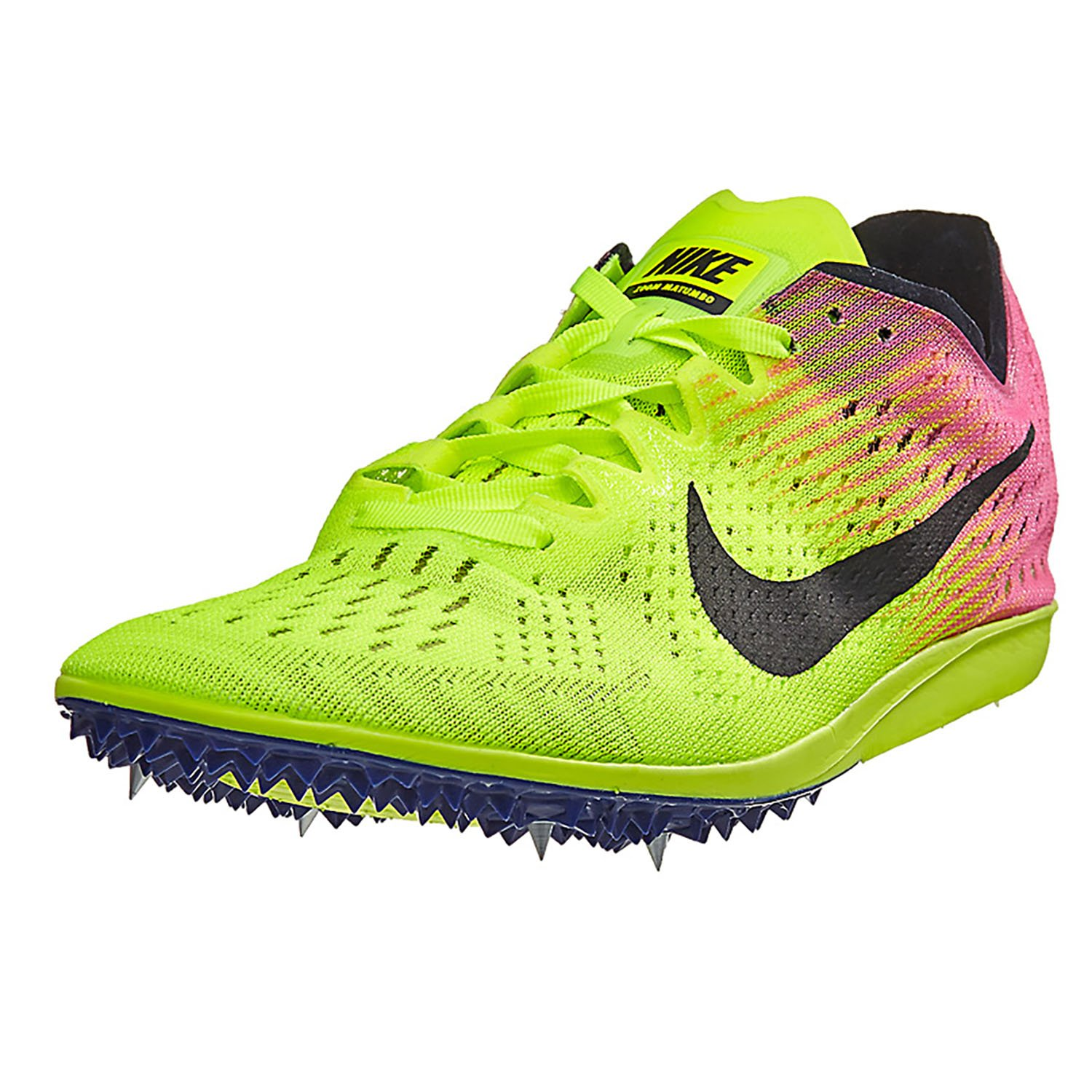 innovative design c2b73 8bed0 Amazon.com   Nike Zoom Matumbo Distance Track Spikes Shoes Mens Size 14  (Volt, Pink, Blacky)   Track   Field   Cross Country