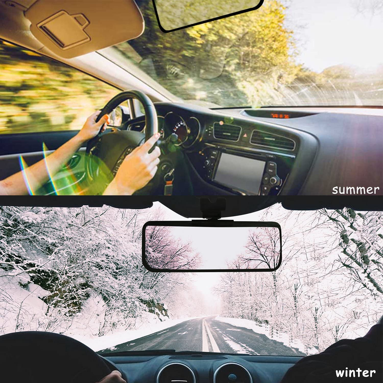 Sunvisor-001 Monopril Car Visor Anti Dazzle Shading Mirror Auto Anti-Glare Clip-on Car Sun Visor Shield Sunshades Suitable for Ford-Series//Benz//BMW and all cars