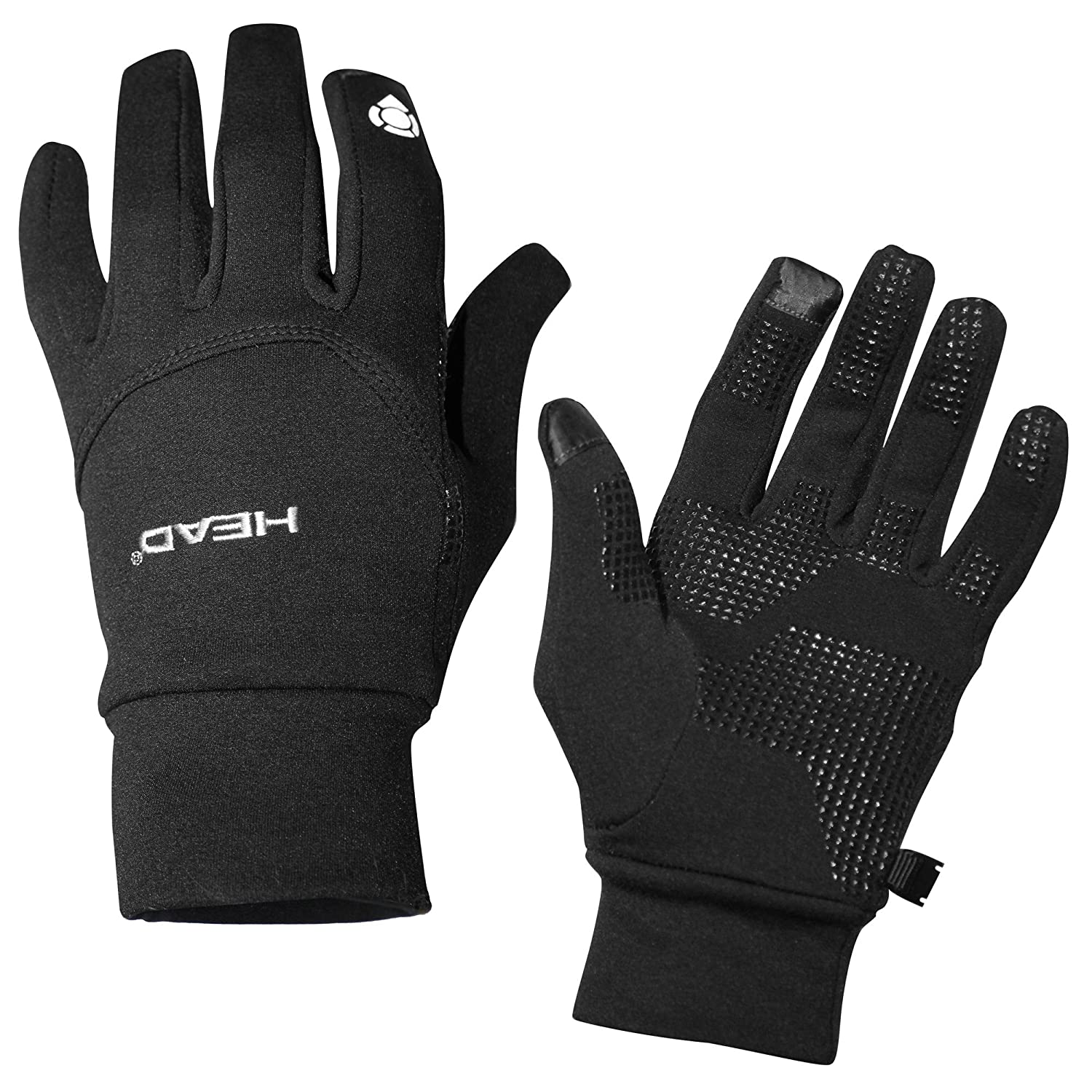 HEAD Digital Sport Running Gloves with Sensatec 'Touch Screen compatible' Black , Size: X-Large