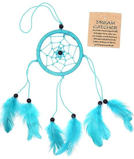 Capteur De Rêve Bleu Turquoise Attrape Attrapeur Piège Rêves Dreamcatcher  dream catcher blue turkish plumes cauchemar Décoration Indien