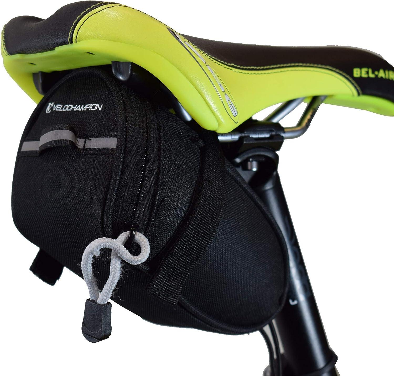 Black Bike Seat Pack VeloChampion Sacoche de Selle Speed Noir