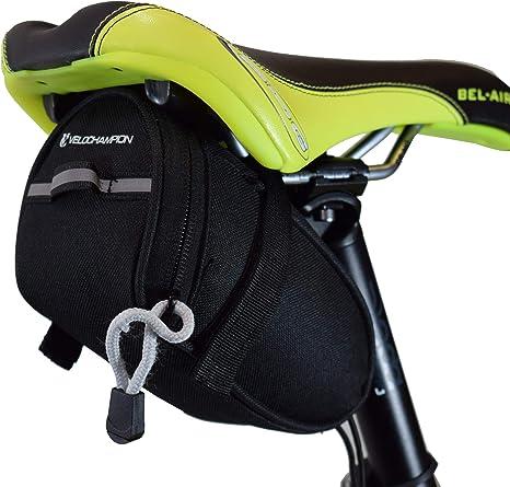 VeloChampion Speed Bolsa de sillin para Bicicleta Negra - Bike ...