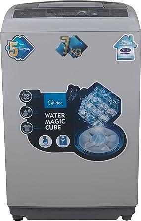 Midea 7 kg Fully-Automatic Top Loading Washing Machine (MWMTL070MWO, Grey)