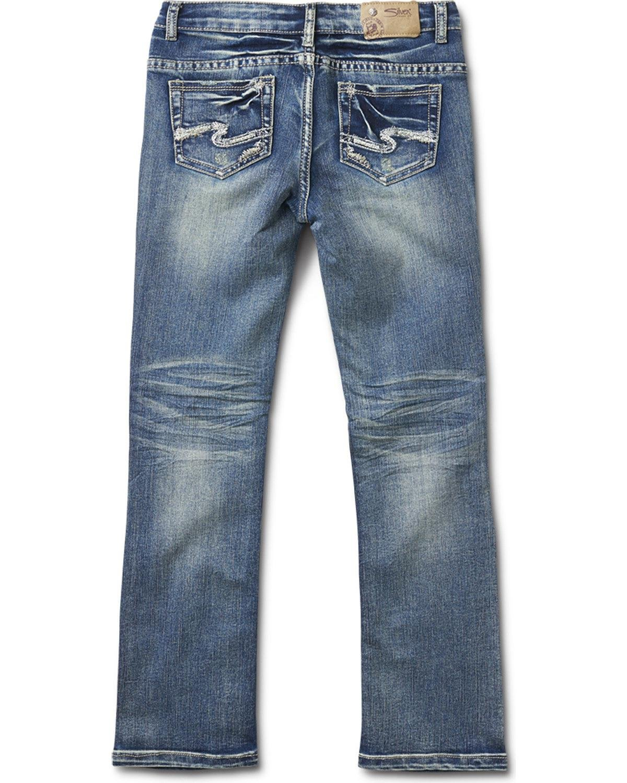 Silver Girls' Tammy Medium Wash Boot Cut Jeans Indigo 7
