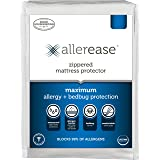 AllerEase Maximum Allergy and Bed Bug Waterproof Zippered Mattress Protector - Allergist Recommended to Prevent…