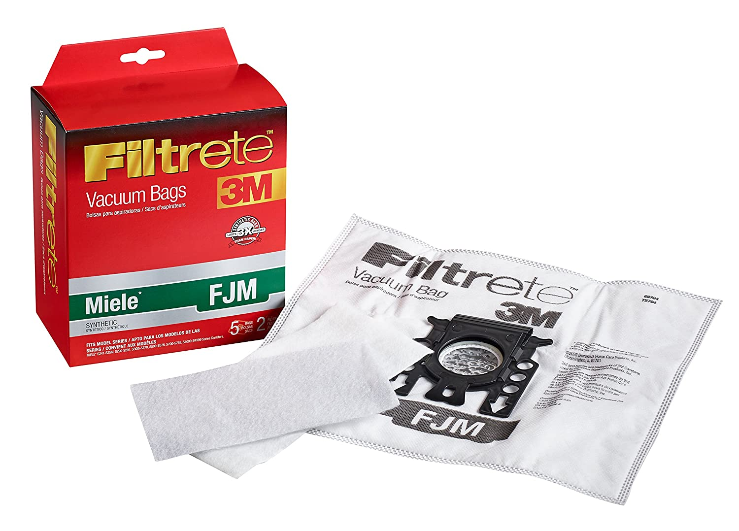 Filtrete Miele FJM Synthetic Vacuum Bag