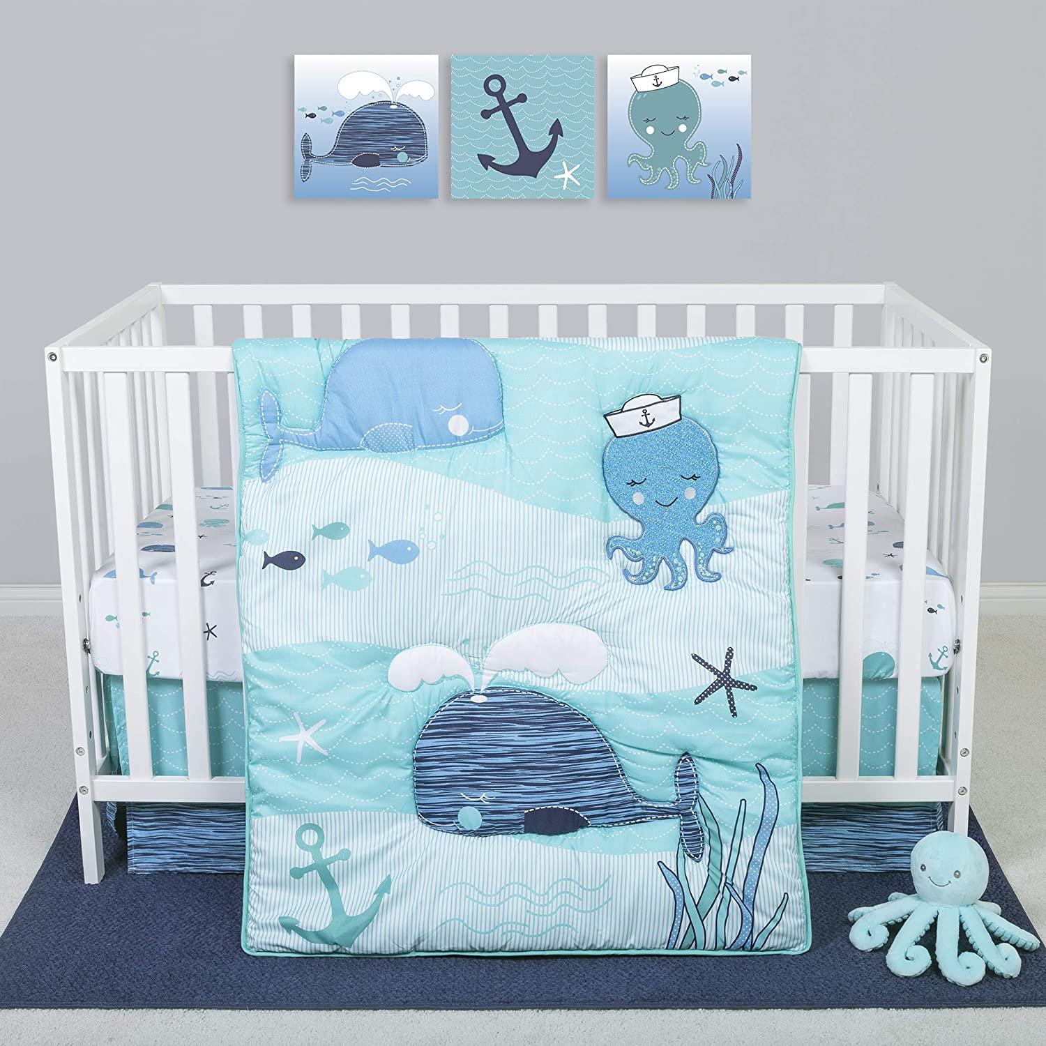 Sammy & Lou 4 Piece Crib Bedding Set, Nautical Adventure