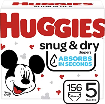 156-Count Huggies Snug & Dry Baby Diapers (Size 5)