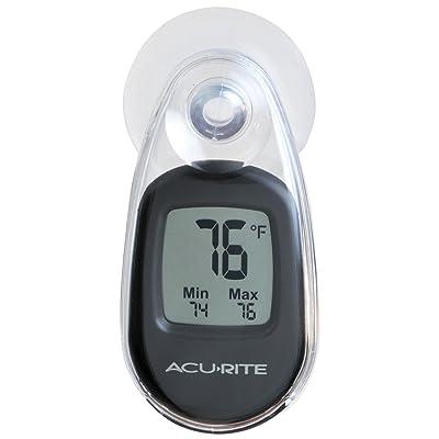 Acu-Rite Ventouse Thermomètre, noir, No Size