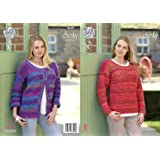 4138f4af83d34 King Cole Womens Chunky Knitting Pattern Ladies Long Sleeved Cardigan    Sweater (4659)