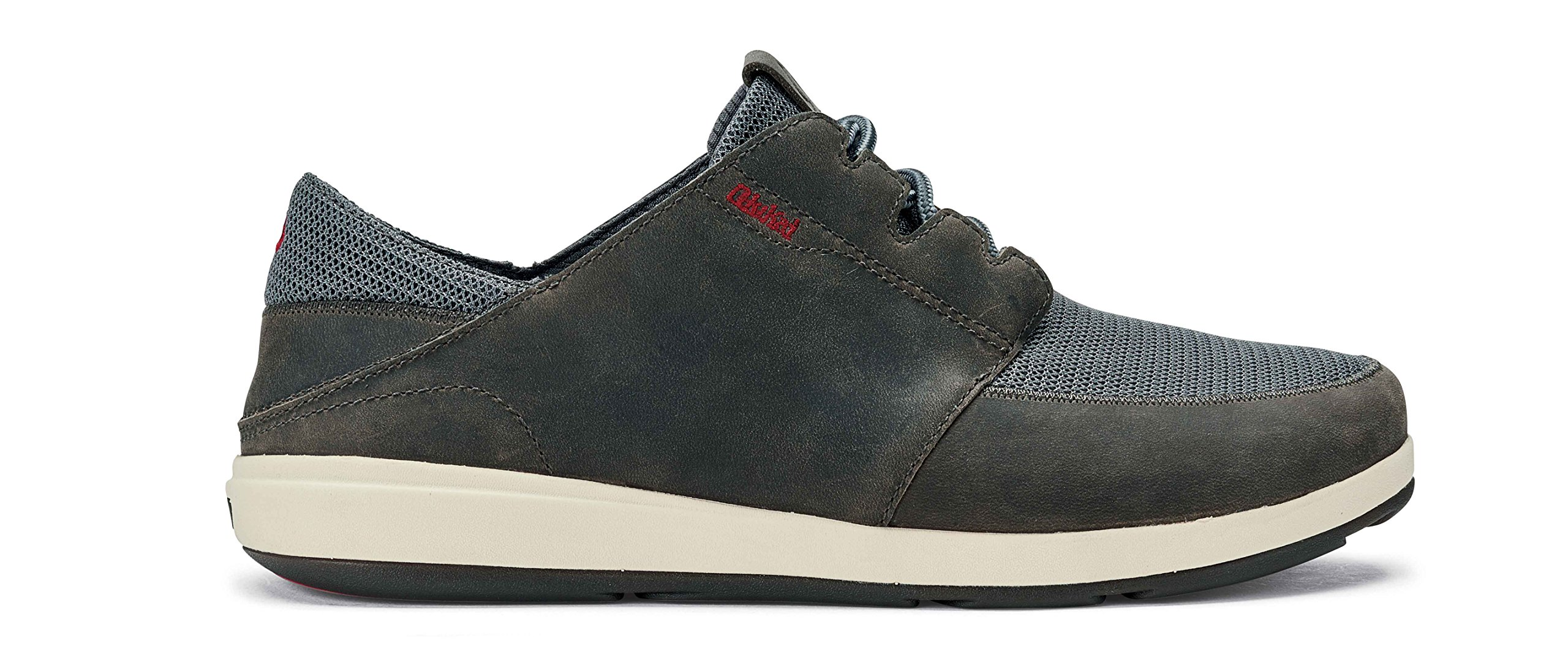 OluKai New Men's Makia Lace Sneaker Charcoal/Charcoal 12