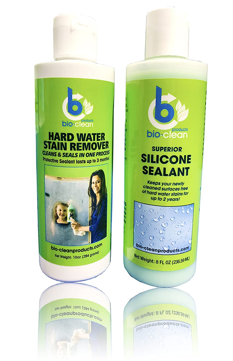 Amazon.com: Bio Clean Hard Water Stain Remover 10oz & Silicone ...