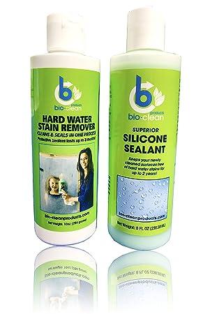 Agua dura quitamanchas (10 oz) sellador de silicona cartucho (8oz): Bio