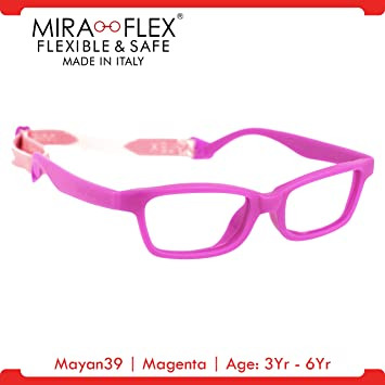 Amazon.com: Miraflex: Mayan39 Unbreakable Kids Eyeglass Frames | 39 ...
