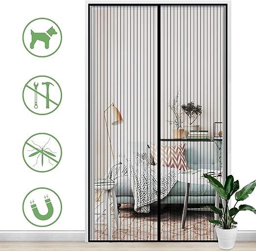 Gimars Cortina mosquitera doble magnetica puerta exterior sin ...