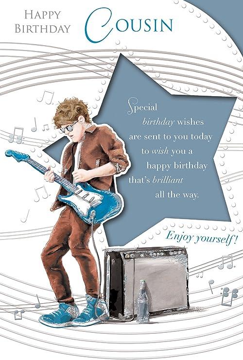 Primo Tarjeta de cumpleaños – Birthday Boy Playing Azul Brillante ...