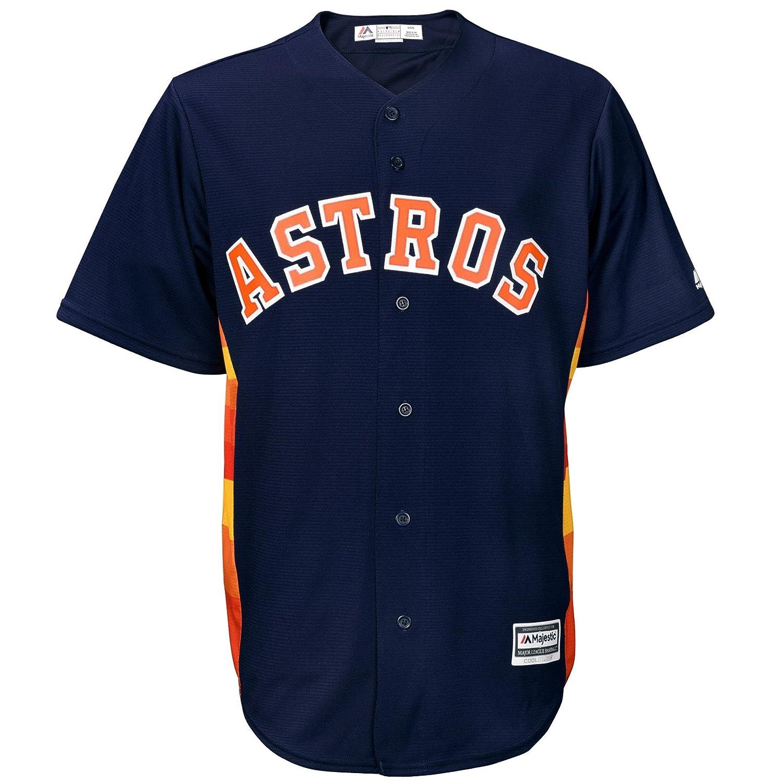 de9ec52e Amazon.com : Majestic Houston Astros Official Cool Base Alternate Jersey  Navy (Small) : Sports & Outdoors