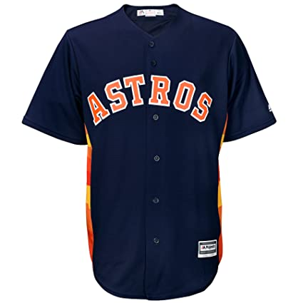 0287927d5 Majestic Houston Astros Official Cool Base Alternate Jersey Navy (Small)