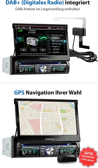 Xomax Xm Dda711 Autoradio Mit Integriertem Dab Tuner Android 6 0 1 2gb Ram 32g Rom Navigation Wifi Obd2 Sapport Bluetooth Freisprecheinrichtung Touchscreen Bildschirm Dvd Cd Usb Sd 1 Din Navigation