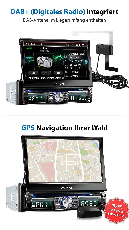 XOMAX XM-DDA711 Android 6.0.1 radio de coche / naviceiver con GPS + 7