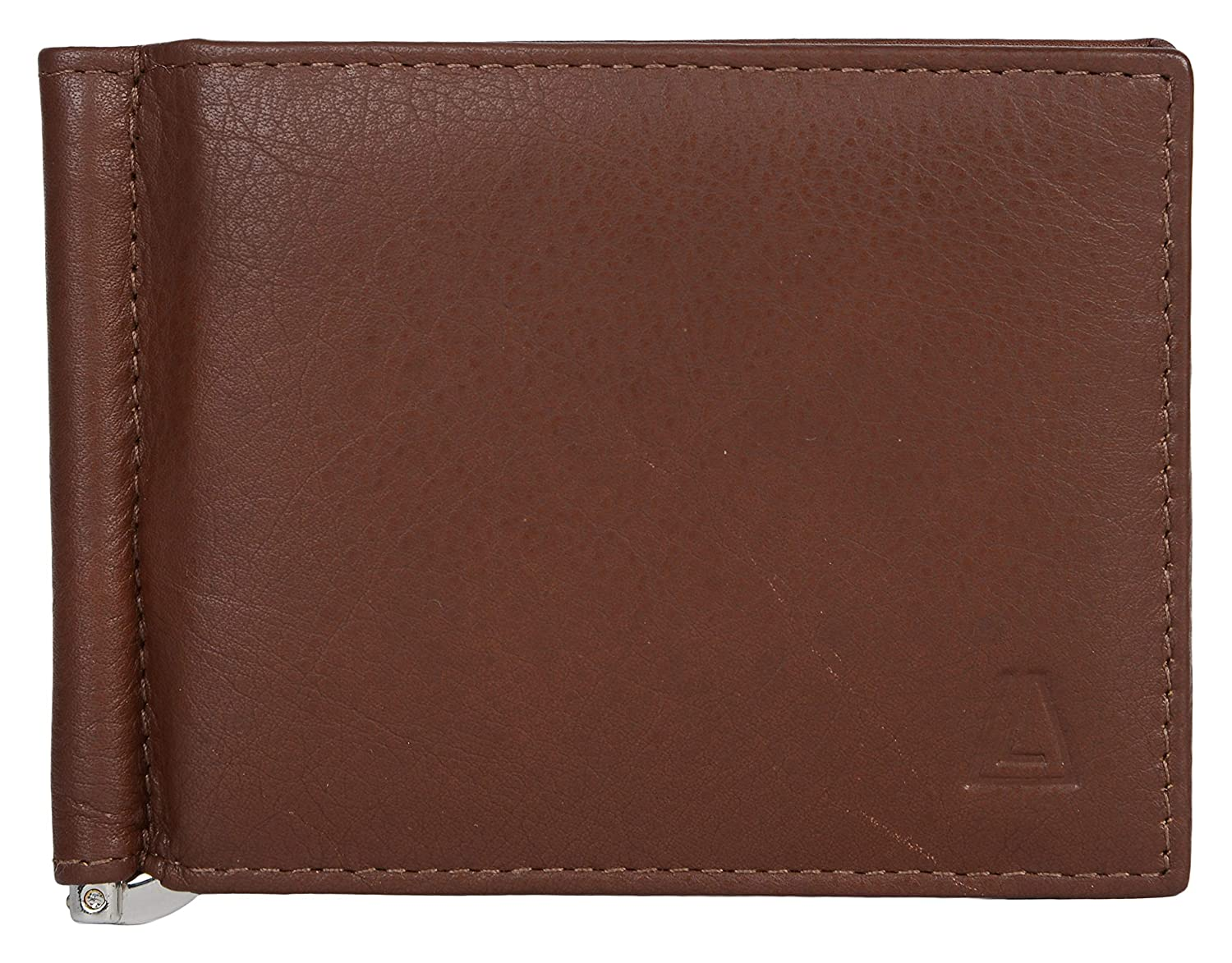 147c2e8b1395 Leather Architect Men's 100% Leather RFID Blocking Bifold Saffiano Wallet  with Money Clip