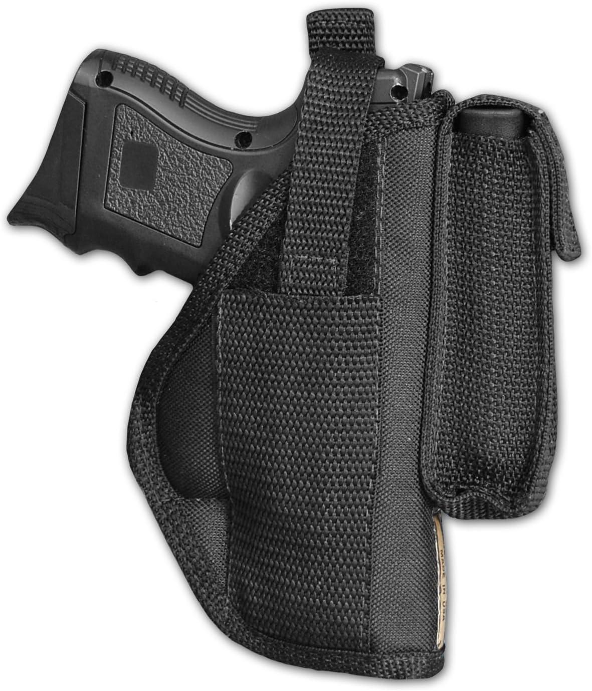 Gun Belt Holster for BB Guns in Black Nylon w// Fastening /& Belt Loop