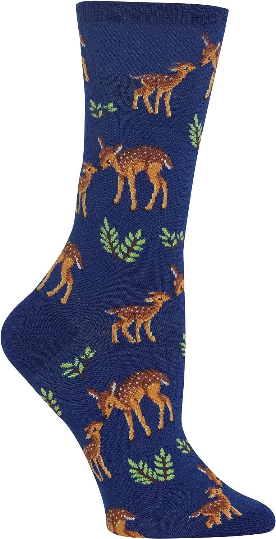 Hot Sox Womens Mother Deer Crew Socks